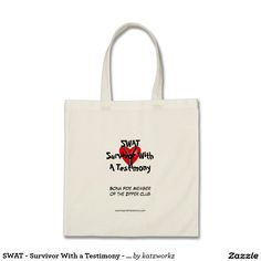 SWAT - Survivor With a Testimony - Zipper Club Tote Bag