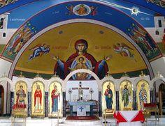 Inside a Greek Orthodox Church