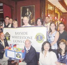 The Bayside Whitestone Lions Club donated 5 boxes of school supplies to the Quality Services for the Autism Community (QSAC) Whitestone School.