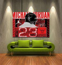 Huge Michael Jordan 23 poster wall art print photo by flyingdingo, $19.75