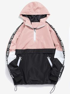 Contrast Half Zip Graphic Striped Hoodie  BLUE DEEP PEACH RED , #ad, #Graphic, #Striped, #Contrast, #Zip, #Hoodie #Ad Teen Fashion Outfits, Style Fashion, Online Clothing Stores, Cute Casual Outfits, Sweat Shirt, Pattern Fashion, Street Wear, Winter, Shirts