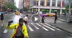 Homem Coloca-se No Meio Da Estrada e Decide Jogar Ping Pong Com Um… Camião