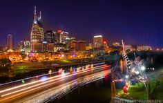 Nashville skyline Places Ive Been, Places To Go, Nashville Skyline, San Francisco Skyline, Bucket, Construction, Travel, Building, Voyage