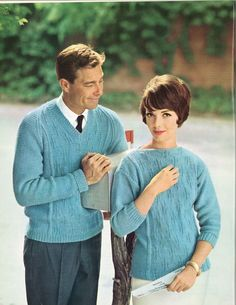 Cerulean Skies • 1960s Pullover Sweater Patterns • 60s Vintage Ribbed Knitting Jumper Pattern • Retro Knit PDF by TheStarShop on Etsy