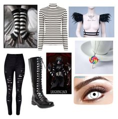"""""""Female Laughing Jack outfit"""" by scarlet-guard ❤ liked on Polyvore featuring Oasis and WithChic"""