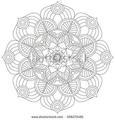 Traditional Round Coloring Ornament Mandala Adult Pattern