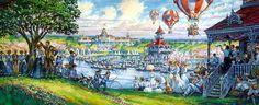 Dan Goozee—Plaza Inn mural for Main Street, Disneyland Paris