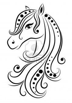 dibujos de caballos  Buscar con Google  Caballito blanco