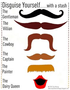 EASY: Mustache Disguise - Printable Template