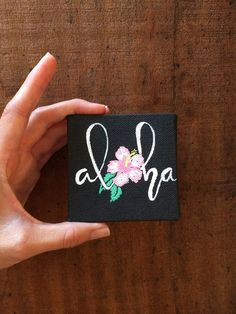 Little Aloha HibiscusMini Stretched Canvas by AllornStudio on Etsy