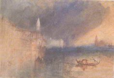 Grand Canal, Venice, watercolor om paper, by Joseph Mallord William Turner, 1840