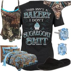 This Isn't A Bakery Camo Night Shirt Outfit – Baby out Fits Country Western Outfits, Country Style Outfits, Country Shirts, Western Wear, Camo Outfits, Cowgirl Outfits, Fashion Outfits, Redneck Outfits, Cowgirl Clothing