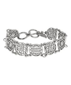 Look at this #zulilyfind! Silvertone Coin-Link Toggle Bracelet #zulilyfinds