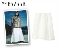 How Bazaar... The A-Line Skirt — The classic style gets a modern update at #ShopBAZAAR!