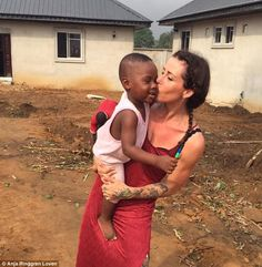 Hope was rescued by Danish charity worker Anja Ringgren Loven, who was working in Africa