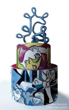 @Kathleen DeCosmo ❥♡♡❥ Hand-Painted Picasso #cake