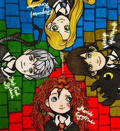 (Fan art) Merida, Rapunzel, Jack et Hiccup - The Big Four - Page 18