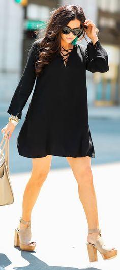 closet ideas fashion outfit style apparel Lace-Up Dresses 9615c9f5744b