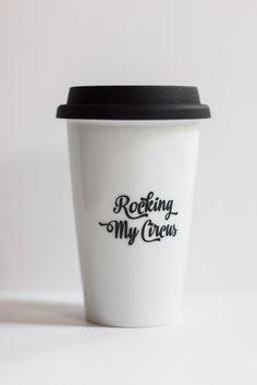 Rocking My Circus ceramic travel coffee mug | Transforming Beauty