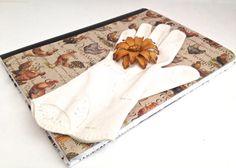 Wedding Home Notebook with Vintage Glove & Brooch by ZiLLAsQuEeN, $16.00