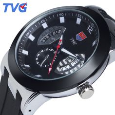 16.11$  Watch now - http://alivfa.shopchina.info/1/go.php?t=32671878816 - TVG Brand Fashion Ultra-Thin Luxury Men's Quartz Watch Waterproof Silicone Strap Casual Mens Wristwatches Relogios Masculino  #aliexpresschina