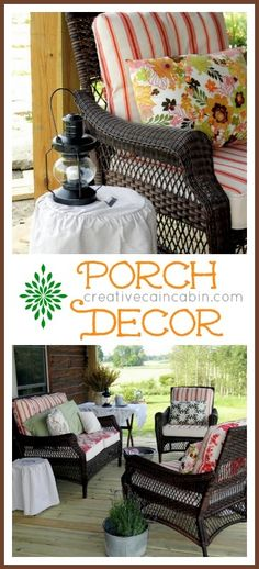 Porch Furniture From KMart ~ Creative Cain Cabin