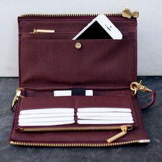 Dagne Dover | Oxblood Clutch   Wallet Handbags Wallets - http://amzn.to/2i1nBxm