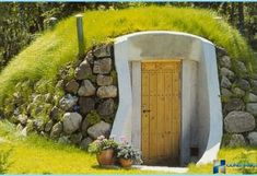 root cellar design and decorating ideas Permaculture, Old Refrigerator, Cellar Design, Wood Exterior Door, Root Cellar, Small Buildings, Outdoor Living, Outdoor Decor, Garden Planters