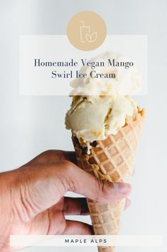 Mango Swirl Ice Cream (vegan) | www.maplealps.com