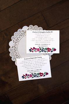 Lauren Baker Print & Design | Wedding Stationery | Berry Navy Floral Wedding Invitation
