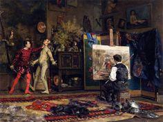 Julius LeBlanc Stewart - In the Artist's Studio