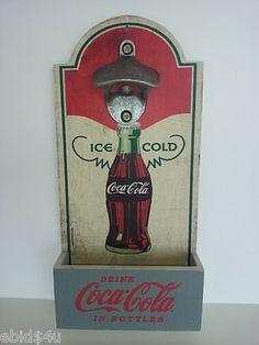 COCA COLA Bottle Opener & Cap Catcher
