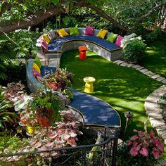 an eclectic garden retreat