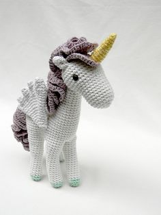 one of the amazing, adorably delightful creations of pica – pau. #mustsee #crochet #knithacker #unicorn