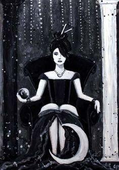 The High Priestess - The Phantomwise Tarot --If you love tarot, visit me at www.WhiteRabbitTarot.com