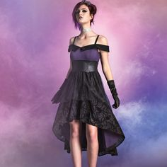 Seize the throne. Do prom your way // Disney Villains Black Purple Gown