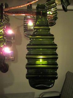 Copper, slumped bottle candle chandelier - Garden Junk Forum - GardenWeb