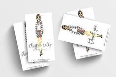 Fashion Girl Business Card Template on @graphicsmag