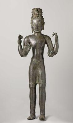 Mensen-Collected works of donna_britt - All Rijksstudio's - Rijksstudio - Rijksmuseum Standing Buddha Statue, Buddha Statues, Khmer Empire, Thai Art, Guanyin, Stone Sculpture, Buddhist Art, Angkor, Asian Art