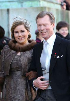 Miss Honoria Glossop:  Grand Duchess Maria-Teresa and Grand Duke Henri of Luxembourg attend the wedding of their nephew, Archduke Christoph