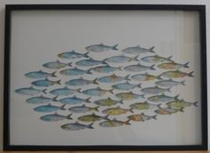 Paper Things Archive - Karin Urban - NaturalSTyle - Picture with fish from maps - World Map Painting, Map Crafts, Watercolor Sea, Collage, Recycled Art, Cool Diy Projects, Art Plastique, Ikea Hack, Book Pages