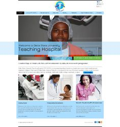 Delta State University Teaching Hospital website designed by Le Sman web design company UK