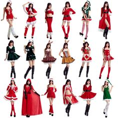20 Styles of Women Santa Claus Costumes //Price: $37.98 & FREE Shipping //     }
