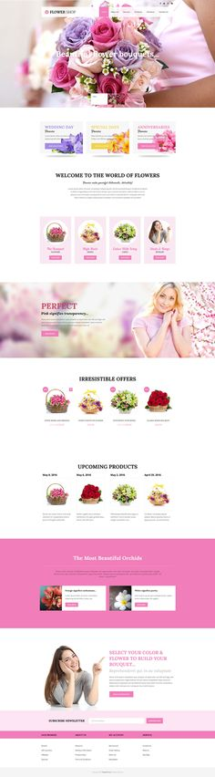 Veda #Flower Demo has pretty design and features, especially created for flower shops, decor, gift shops, gardening services and other similar websites. #wordpress #theme