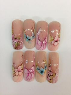 Nail art design on tips #nail #nailart