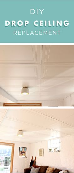 If you're sick of looking at your outdated drop ceiling, then check out this DIY drop ceiling replacement tutorial from Sarah, of The Surznick Common Room. Sarah painted her ceiling frame with a fresh coat of Ultra Pure White and replaced the old ceiling tiles to give her basement a fresh, clean look.