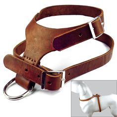 Didog Brown Handmade Real Genuine Leather Dog Harness for Medium Large Dogs | Pet Supplies, Dog Supplies, Harnesses | eBay!