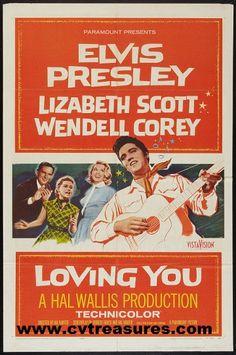 """Elvis Presley Movie Posters in """"Loving You"""" one sheet original vintage film…"""