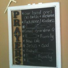 Family prayer board