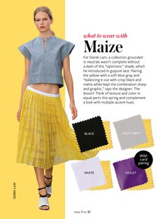 Instyle-What to wear with maize